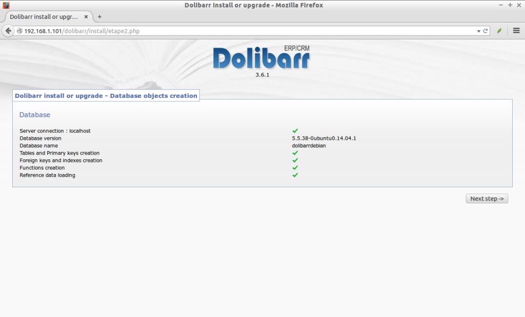 Install Dolibarr on a BIP media VPS