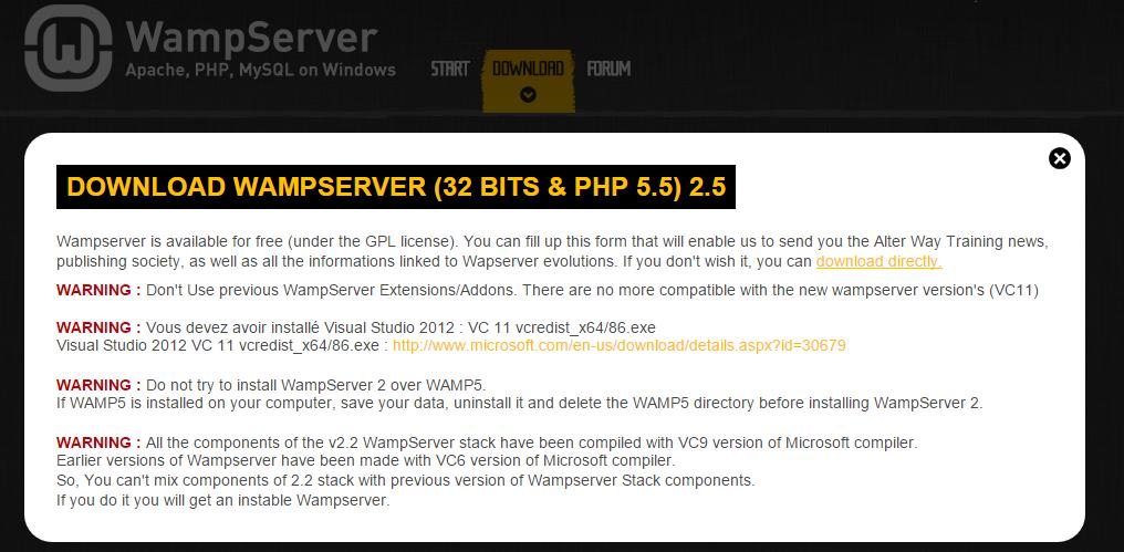 Install WAMP server download- BIPmedia.com VPS