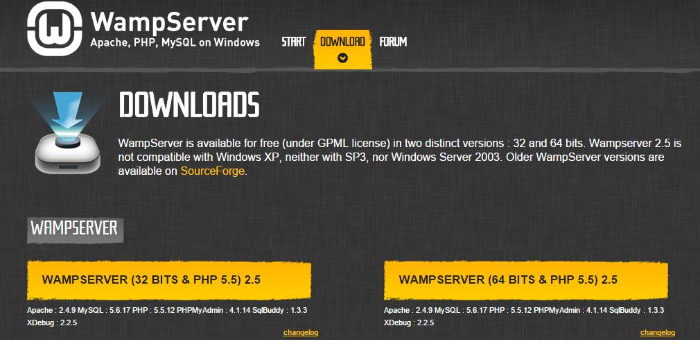 Install WAMP server downloads - BIPmedia.com VPS