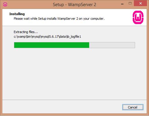 Install WAMP server installing screen - BIPmedia.com VPS