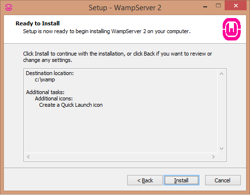 Install WAMP server ready to install screen - BIPmedia.com VPS