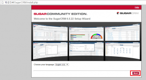 sugarcrm community setup wizard