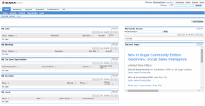 login to sugarcrm